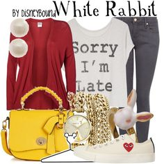 White Rabbit inspired outfit by Disney Bound. Disney Themed Outfits, Disney Bound Outfits, Disney Dresses, Disney Clothes, Disneyland Outfits, Princess Outfits, School Looks, Moda Disney, Disney Inspired Fashion
