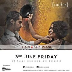 The wait is over!   Hari & Sukhmani one of the most entertaining musical duos are playing live at {niche}  Lets get together for a soulful night with Indias most popular Folktronica band on 3rd June. Dont miss their last performance in India before their international tour.   For Table Bookings: 9599289970/73  #hariandsukhmani #hariandsukhmaninight #live #niche #delhi #delhinightlife #delhidiaries #livemusic #liveperformance #sufi #punjabi #sufinight #livefolk #punjabimusic #folkmusic…
