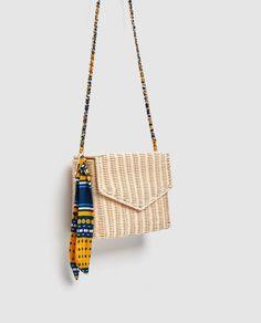 Image 3 of RAFFIA CROSS-BODY BAG from Zara