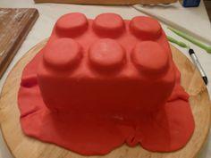 How to Do Fondant Cake | ... joy*: EASY LEGO CAKE -- A Piece of LEGO That's a Piece of Cake