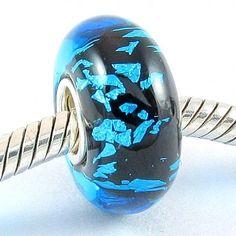 Beautiful Green and Blue Murano Glass Bead Charm Fits Pandora Bracelet $7.83 #topseller