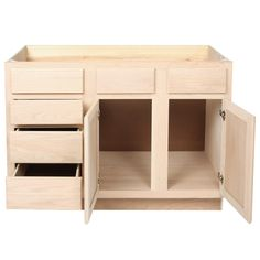 Unfinished Oak Bathroom Vanity Sink U0026 Drawer Base Cabinet ...