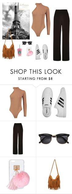 """""""Untitled #380"""" by fashionlover-1995 ❤ liked on Polyvore featuring adidas, River Island, Ashlyn'd and modern"""