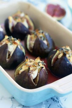Easy 15-minute Baked Figs with Goat Cheese, walnuts, honey and sage recipe. These baked figs make for an elegant savory appetizer your guests will love!