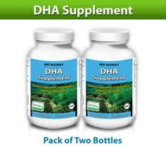 Best naturals, DHA Supplements 200 mg, 60 softgels ( pack of 2 )