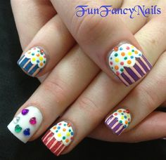 FunFancyNails by FunFancyNails - Nail Art Gallery nailartgallery.nailsmag.com by Nails Magazine www.nailsmag.com #nailart
