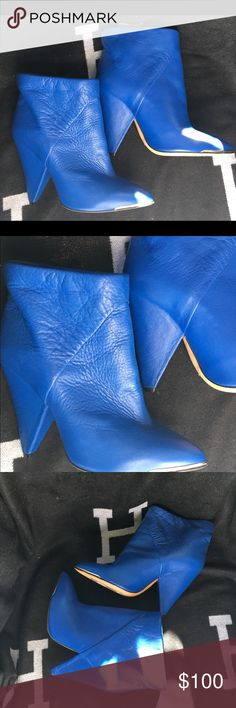 IRO by Barney's New York Royal Blue Booties 38 7.5 New never worn butter soft lambskin genuine leather booties boots shoes from Barney's New York size 38 IRO Shoes Ankle Boots & Booties