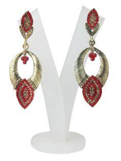 Amazon.com: Danglers Earrings- Wild Strawberry American Diamond Earring Set Boho Jewelry: Tarini Jewels: Jewelry