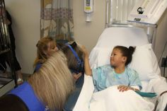 Horses helping people: miniature therapy horse has a great bedside manner