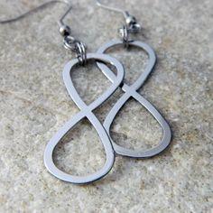 Infinity Dangle Earrings by WireNWhimsy on Etsy, $10.00