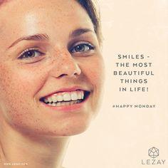 Good Morning Gorgeous: Happy Monday - smile this makes you beautiful! #happymonday #georgeous #mylezay #skincare