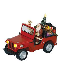 Take a look at this Santa Jeep Musical Figurine by Roman, Inc. on #zulily today!