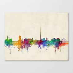 Dublin Skyline, by artPause