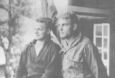 Don Malarkey and Burr Smith, taken when they were in the hospital in England after being wounded and evacuated from Normandy following the battle for Carentan. Burr Smith and Don Malarkey