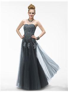 Elegant Mermaid/Trumpet Floor-length Sweetheart Zipper-up Appliques Evening Dress