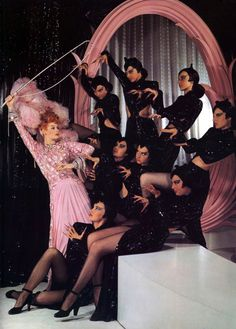 "Lucille Ball and the panther dancers in ""Ziegfeld Follies"" 1946"