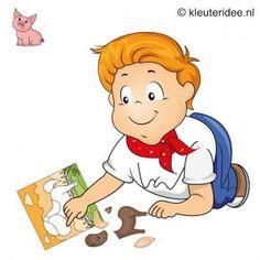 Spel 13: Boerderijpuzzel wedstrijd, speldag thema boerderij voor kleuters, kleuteridee.nl , farm games for preschool field day.