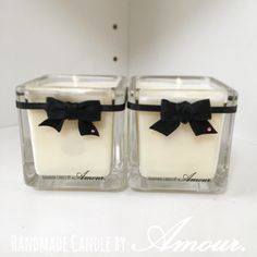 Cube Glass Soy Candles