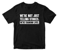 We're Not Just Telling... Black Edition T-Shirt - XXL / Black