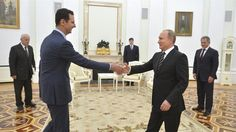What would Russia's support for Assad cost Vladimir Putin? Russian President Vladimir Putin shakes hands with Syrian President Bashar al-Assad during a meeting at the Kremlin in Moscow on October 20, 2015 This week the world witnessed yet another chemical attack in Syria. After horrendous footage from Khan Sheikhoun showed children suffocating from sarin gas … Continue reading The chemical brothers: Putin and Assad →