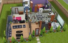 The Sims Freeplay- House Guide (Part One) Casas The Sims Freeplay, Sims Freeplay Houses, Small Room Design Bedroom, Sims Free Play, Sims House Plans, Sims House Design, Model House Plan, House Blueprints, Outdoor Furniture Sets