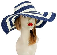FASHIONISTA Nautical Stripe Navy Blue And White Beach Sun Cruise Summer Large Floppy Hat. Free shipping and guaranteed authenticity on FASHIONISTA Nautical Stripe Navy Blue And White Beach Sun Cruise Summer Large Floppy Hat at Tradesy. Fashion Statement Sun Beach Cruise Summer Large Fl...