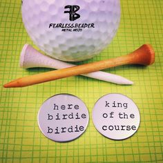 This listing is for 2 silver custom golf ball markers! Great gift for any golfer! These stainless steel golf ball markers will never tarnish,