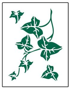 Faux Like a Pro Ivy Stencil by Single Overlay Home & Kitchen Features for sale online Leaf Stencil, Cake Stencil, Flower Stencils, Stencil Patterns, Stencil Designs, Free Stencils, Ivy Leaf, Wall Tattoo, Wedding Cakes With Flowers