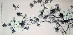 Resultado de imagen de chinese brush painting flowers
