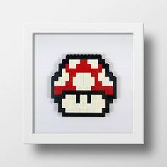 Mario Mushroom - Lego Art