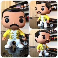 #mulpix My Custom FREDDIE MERCURY ... For A Commission From FB! I Must Say, I Got That Jacket On Point! Pretty Proud Of This One!☺️ Mamaaaaa, Oooh Oooh Ooo Oooooh!...  Need To Do More Pop! Rocks! For Any Interests In Freddie Mercury .. DM @Funkoboss And For Any Interests In Any Other Custom Pieces! Holla Lata! Keep Sharing That Funko Love!!!❤️  #funko  #funkopop  #funkovinyl  #popvinyl  #freddiemercury  #queen  #music  #legend  #rock  #hardrock  #bohemianrhapsody  #custompop