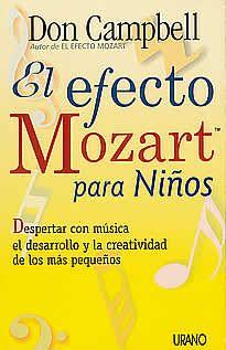 El efecto Mozart para niños de Don Campbell editado por Urano. En El efecto Mozart para niños, Don Campbell nos muestra que la música es la herramienta más adecuada para mejorar aspectos como el lenguaje, la motricidad y la expresión de los sentimientos.