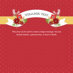 A Bloomin Thanks For You {Red} designed by Kellie Medivitz on pingg.com