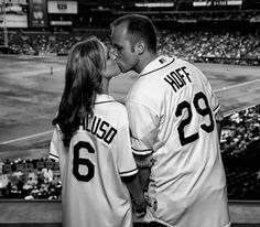 Baseball jersey with wedding date