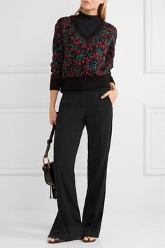 Chloé | Wool-blend jacquard sweater | NET-A-PORTER.COM