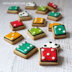 Bite Size Dice Cookies