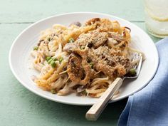 Recipe of the Day: Giada's Chicken Tetrazzini         Giada's top-rated dish is ultra creamy and ultra delicious. Garlicky mushrooms, sauteed chicken and pasta are topped with breadcrumbs, then baked to perfection.