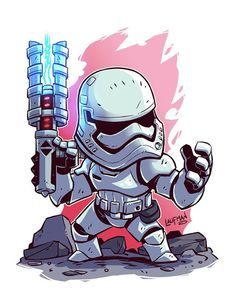 """""""Traitor!!"""" Chibi TR-8R now available at dereklaufman.com (link in profile) #theforceawakens #tr8r #StarWars"""