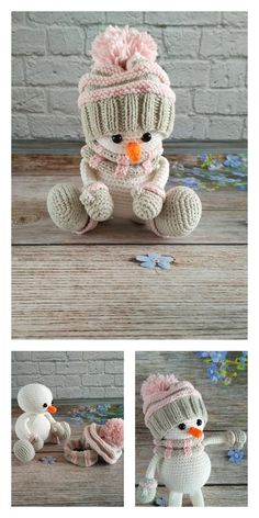 Amigurumi Small Snowman Free Pattern – Amigurumi Free Patterns And Tutorials, Amigurumi kleine Schneemann kostenlose Muster – Amigurumi kostenlose Muster und Tutorials, Diy Crochet And Knitting, Baby Hats Knitting, Granny Square Pattern Free, Crochet Blanket Edging, Crochet Dolls Free Patterns, Stuffed Animal Patterns, Amigurumi Doll, Crochet Projects, Minis