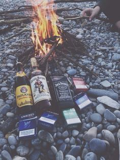 alcohol, company, friendship, fire, grunge