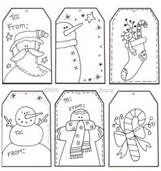 Kids can color the gift tags!