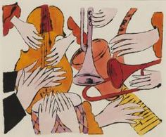 Andy Warhol 'Instruments with Hands', 1957 © 2015 The Andy Warhol Foundation for the Visual Arts, Inc. / Artists Right Society (ARS), New York and DACS, London