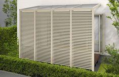テラスAタイプ | 正面デザインパネル付き屋根 アウタールーフ | YKK AP株式会社 Porch And Terrace, Outdoor Screens, Home Interior Design, Pergola, Construction, Outdoor Structures, Fendi, Garden Design, Modern Design