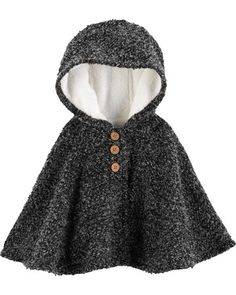 b1963b2bd1a Baby Girl Fuzzy-Lined Cape Poncho from Carters.com. Shop clothing  amp