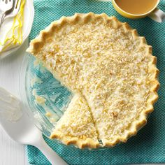 Easy Coconut Cream Pie Recipe -This is my own recipe for a pie that I make often. It's been a family-favorite dessert since the '40s, when I made several of these pies to serve a threshing crew of 21 men! —Vera Moffitt, Oskaloosa, Kansas