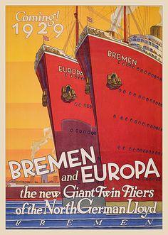 Europa & Bremen #vintage #travel #poster