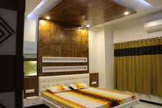 House Interiors by krunal jani, Interior Designer in Ahmedabad ,Gujarat, India House Ceiling Design, Ceiling Design Living Room, Bedroom False Ceiling Design, Luxury Bedroom Design, Bedroom Bed Design, Bedroom Furniture Design, Bedroom Designs, Interior Design, Bedroom Ideas For Couples Modern