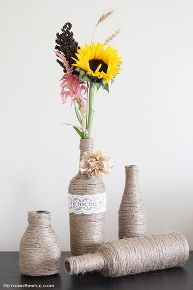 upcycle glass bottle vase, crafts, repurposing upcycling