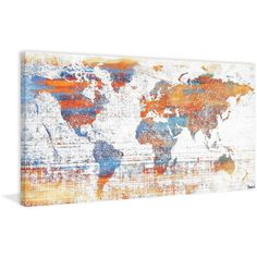 Found it at Wayfair - Warm World Painting Print on Wrapped Canvas