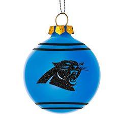 2014 NFL Football Team Glitter Logo Glass Ball Ornament - Pick Team (Carolina Panthers) - Build My Christmas - pinnervor Football Team Logos, Football Love, Football Decor, Official Nfl Football, Carolina Panthers Football, Panther Nation, Ball Ornaments, Glass Ball, Christmas Balls